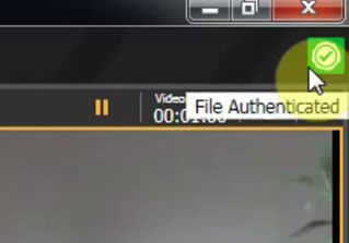 Video File Authenticated